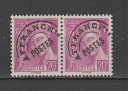 FRANCE / 1938-1942 / Y&T Préo N° 78 ** : Mercure 20c Lilas (2 TP En Paire) - Gomme D´origine Intacte