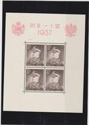 1937 Souvenir Sheets  Mint Hinged Mi. Block 2/4, Scott 314/16, Yvert BF 2/4