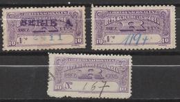 A526.-. KOLUMBIEN .1904-1909. MI#: 218,226 - USED LOT X 3 -  EINSCHREIBMARKE - REGISTRATION STAMPS