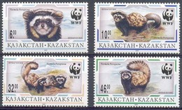 MDW-BK1-054 MDA MINT PF/MNH ¤ KAZAKSTAN 1997 4w In Serie ¤ WWF - MAMMALS - ENDANGERED ANIMALS