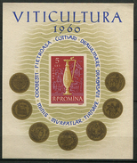 Roumanie ** Bloc N° 49 - La Viticulture -
