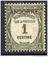 Andorre Taxe  N° 9  XX Timbres- Taxe De France Surchargés : 1 C. Olive Sans Charnière TB