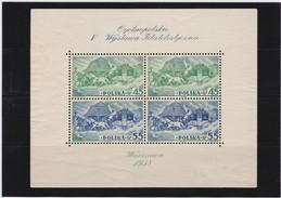 1938 Souvenir Sheet Philatelic Exhibition MNH Mint Never Hinged Mi. Block 5A, Scott B29 Perf., Yvert BF 5 Perforated.