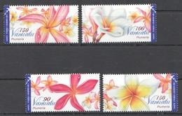 A174 VANUATU FLORA FLOWERS PLUMERIA 1SET MNH