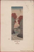 Old Original 1905 Postcard Utagawa Hiroshige Koyo Saruhashi The Monkey Bridge Kai Province T. Hasegawa Tokio Tokyo Japan - Otros