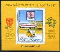 Roumanie ** Bloc N° 161 - Journée Du Timbre (avion, Véhicule électrique Des PTT) -