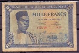 Mali 1000 Fr 1960  Modibo At Left  P 4 - Autres - Afrique