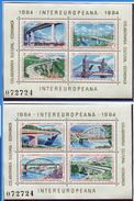 Roumanie ** Blocs N° 166/167 - Collaboration économique Et Culturelle (Ponts) -