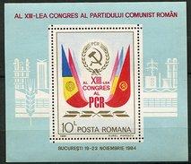 Roumanie ** Bloc N° 170 - 13e Congrès Du Parti Communiste Roumain -