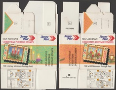 Jersey 2004 Y&T 1180 à 1189. 2 Boîtes Des Timbres D'usage Noël, Envoi Pour L'intérieur Et La GB. Bougies, Rois Mages...