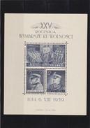1939 Souvenir Sheet Legion Mint Hinged Mi. Block 8, Scott B35, Yvert BF 8