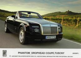 Postcard - Rolls - Royce - Phantom Drophead Coupe, Tuscny (05/2007) - New - Toerisme