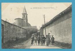 CPA Chemin De L'Eglise ROCHE 38 - Other Municipalities