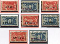 (CL. 98 Bis) Roumanie ** N° 886 à 893 Surchargés - Front Des Laboureurs -