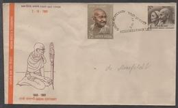 MAHATMA GANDHI / 1969 INDE ENVELOPPE FDC  (ref 3194)