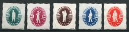 (CL. 98 Bis) Roumanie ** N° 906 à 910 - Journée Du Travail - Mécanicien, Terrassier, Moissonneur, Semeur, étudiants -