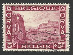 Belgium,  5 F + 5 F. 1928, Sc # B76, Mi # 242, Used