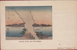 Old Original 1905 Postcard Utagawa Hiroshige Imado Yedo T. Hasegawa Tokio Tokyo Japan Japon - Otros