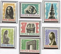 (CL. 98 Bis) Roumanie **, Ob N° 2292 à 2298 - Œuvres Du Sculpteur C. Brancusi -