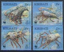 MDW-BK1-058 MDN MINT PF/MNH ¤ KIRIBATI 1998 4w In Serie ¤ WWF - SEA ANIMALS - ENDANGERED ANIMALS