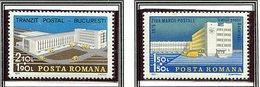 (CL. 98 Bis) Roumanie ** N° 2934/2935 - Journée Du Timbre. Centre De Tri Postal De Bucarest -