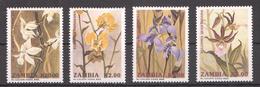 A179 ZAMBIA FLORA FLOWERS 1SET MNH