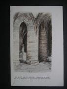 Le Mont Saint-Michel L'Abbaye.-La Crypte Des Gros Piliers