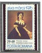 """(CL. 98 Bis) Roumanie ** N° 2998 - Journée Du Timbre """"Dame Elena Cuza"""" De T. Aman-"""