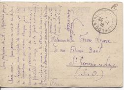 CP Arc De Triomphe Salonique écrite De Macédoine Grecque C.Trésors Et Postes 25/1/1916 (501) V.St.Germain-en-Laye PR4075 - Marcophilie (Lettres)
