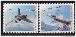 2014 Schweiz Mi. 2328-9 **MNH 100 Jahre Schweizer Luftwaffe