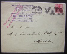 1916 Jolie Lettre Belge  Avec Timbre Allemand Deutsches Reich Kautschukstempel Voir Photo