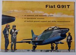 M#0T45  Brochure AEREO FIAT G91T Ani '60/AVIAZIONE MILITARE - Aviazione