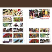 Sint Maarten 2015, Personalized Tourist Stamps, Butterfly, Trees, Iguanas, Birds, Parrots, 16val In 2BF
