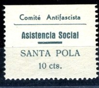 España Guerra Civil Viñeta SANTA POLA  Comite Antifascista Asistencia Social   10Cts.  GG 1201   R  **   V171.4 - Vignettes De La Guerre Civile