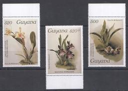 A181 GUYANA FLORA FLOWERS 1SET MNH
