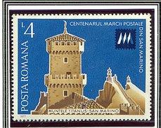 (CL.  Bis) Roumanie ** N° 3039 - Cent. Du Timbre-poste De La Rep. De Saint Marin -