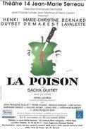 SPECTACLE THEATRE   LA POISON ILLUSTRATEUR LEO KOUPEUR POMME COUTEAU  THEATRE 14 J-M SERREAU PARIS - Theater
