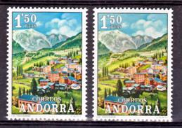 Andorre Espagnol  66 Variété Montagne Grise Et Normal Neuf ** MNH Sin Charmela