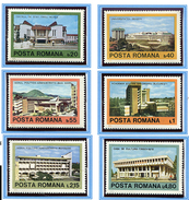 (CL. 98 Bis) Roumanie ** N° 3175 à 3180 - Architecture Contemporaine Roumaine -