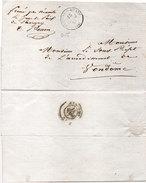 Lettre (LAC) Adressée De SAVIGNY SUR BRAYE A VENDOME En 1857 (95473)