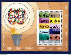 SHARJAH. OLYMPIC GAMES 1968. VOLLEYBALL WRESTLING EQUESTRIAN HORSES WATER POLO SHOOTING ROWING BOXING..SS**