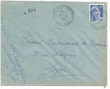 OBLITERATION DE GUMBRECHTSHOFFEN (BAS RHIN) DU 16/5/1955