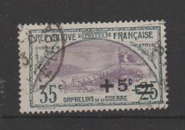 FRANCE / 1922 / Y&T N° 166 : 2ème Orphelins (+5s S/35c+25c) - 2ème Choix (aminci) - Cachet Rond