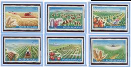 (CL. 98 Bis) Roumanie ** N° 3388 à 3392 - Mécanisation De L'agriculture -