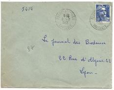 OBLITERATION DE PEYPIN D'AIGUES (VAUCLUSE) DU 8/7/1953