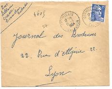 OBLITERATION DE CORMOLAIN (CALVADOS) DU 15/4/1954