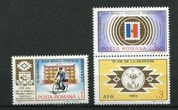 (CL. 98 Bis) Roumanie ** N° 3462 à 3464 - Journée Du Timbre -