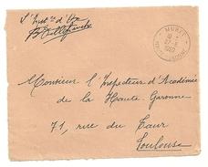 GARONNE / Haute - Dépt N° 31 = MURET 1960 = CACHET MANUEL A8  + FRANCHISE