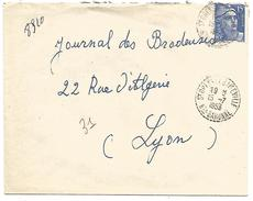 OBLITERATION DE SAINT OPENS DE GAMEVILLE (HAUTE GARONNE) DU 15/7/1953