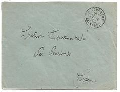 OBLITERATION DE LE TOURNEUR  (CALVADOS) DU 27/2/1951